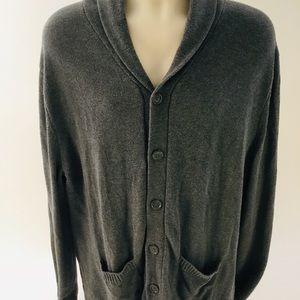 GAP Men's Gray Cardigan Sweater XL